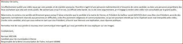réponse Julien De Leiris